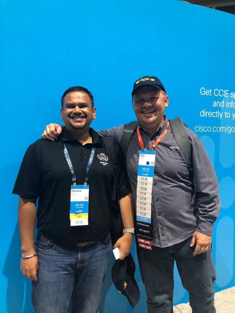 Neil Moore na #CLUS - 8 x CCIE i CCDE